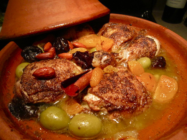 Moroccan Chicken Tagine with Prunes and Almonds | gentlemangourmet